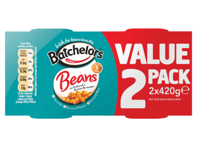 Batchelors Beans in Ireland s Favourite Sauce 2 x 420g