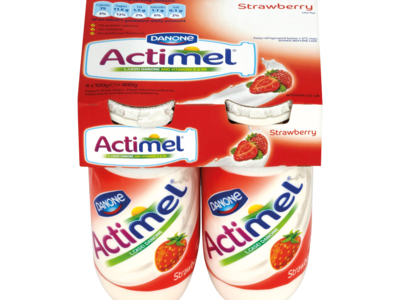 Danone Actimel 4 Pack 400g strawberry