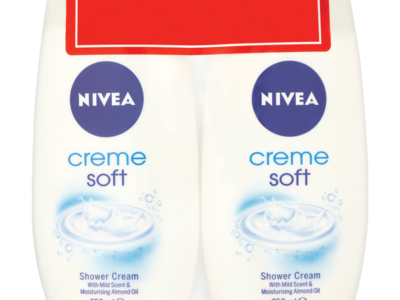 NIVEA Creme Soft Shower Cream Twin Pack 250ml