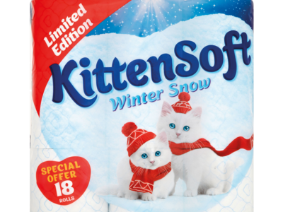 Kittensoft winterSnow 18roll