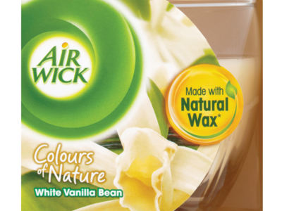 Air Wick Colours of Nature White Vanilla Bean Candle 115g
