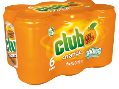 6x330ml Club Orange