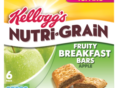 Kellogg s Nutri Grain Soft   Fruity Apple 6 x 37g
