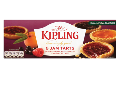 Mr Kipling Exceedingly Good 6 Jam Tarts 1