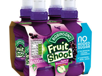 Robinsons fruitShoot Blackcurrant 4x200ml
