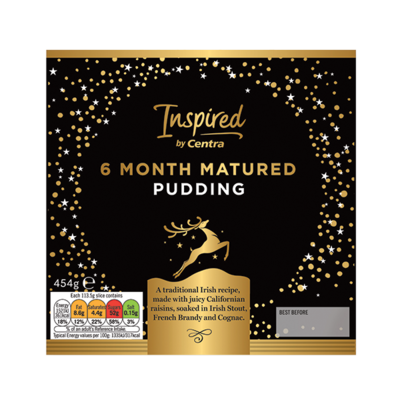 INSPIRED BY CENTRA 6 MONTH MATURED PUDDING 454G