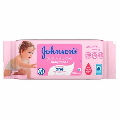 Johnson's Baby Wipes Gentle Cleansing 56pce