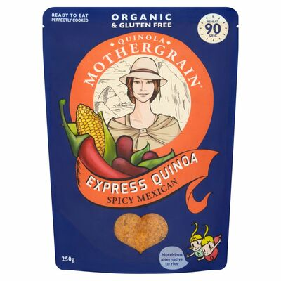 Quinola Organic Ready To Cook Spicy Mexican Quinoa 250g