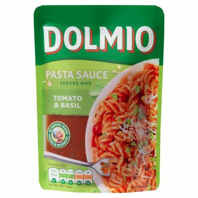Dolmio Pouch Tomato And Basil Pasta Sauce 170g