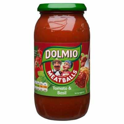 Dolmio Pouch Meatball Tomato And Basil Pasta Sauce 500g