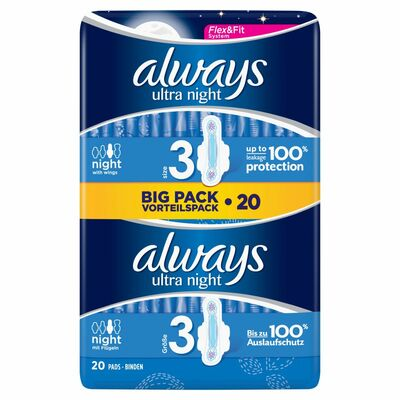 Always Ultra Pads Night 10pce