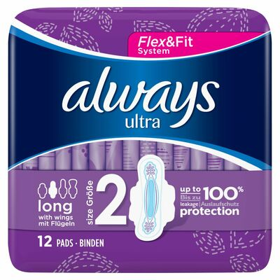 Always Ultra Pads Long Plus 12pce