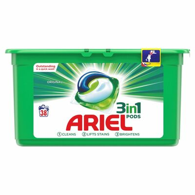 Ariel 3 In 1 Washing Pods 38pce