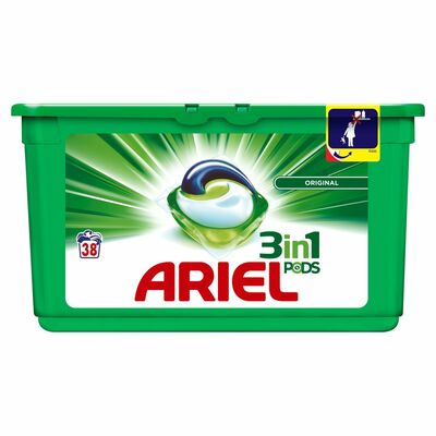 ARIEL 3IN1 WASHING PODS 38PCE