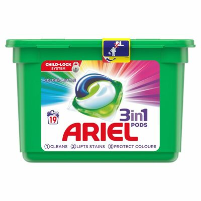 Ariel Pods Liquitabs Tub Colour 19pce