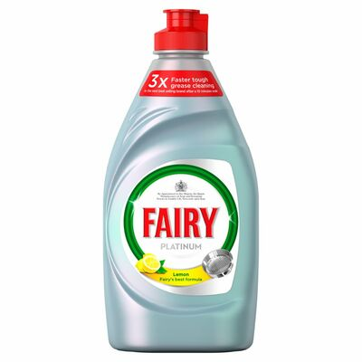 Fairy Liquid Platinum Lemon 383ml
