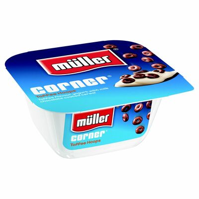 Muller Crunch Corner Yogurt Toffee Chocolate Hoops 135g