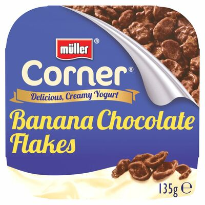 Muller Crunch Corner Yogurt Banana Chocolate Flake 135g