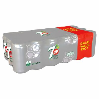 7up Free Can Pack 18 x 330ml