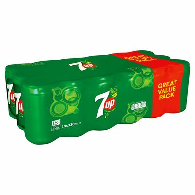 7up Regular Can Pack 18 x 330ml