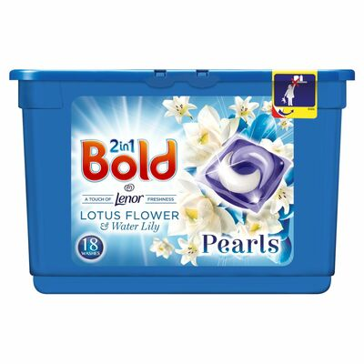 Bold 2 In 1 Pods White Lily 18 Wash
