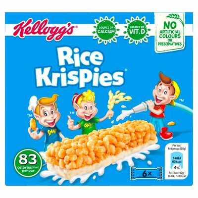 Kellogg's Cereal & Milk Bar Rice Krispies 6 Pack 120g