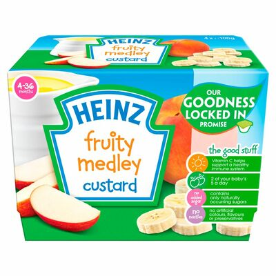 Heinz Fruity Custard Fruit Medley 400g