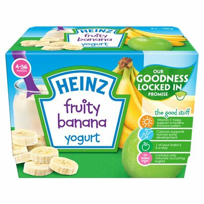 Heinz Banana Fruity Yogurt 400g