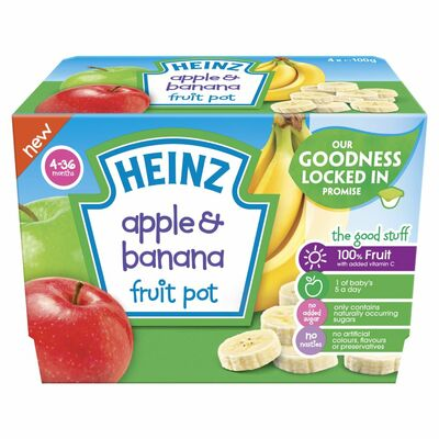 Heinz Apple & Banana Fruit Pot 100g