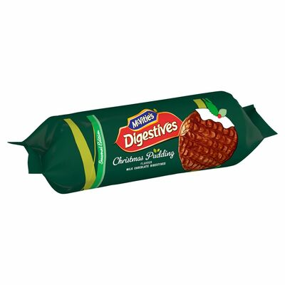 MCVITIE'S MILK CHOCOLATE DIGESTIVE CHRISTMAS PUDDING 250G
