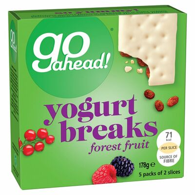 McVitie's Go Ahead Forest Fruit Yogurt Breaks 5 Pack 178g
