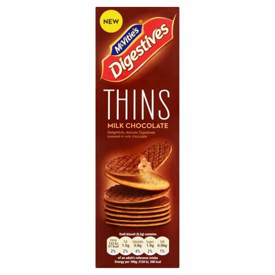 Mcvitie's Digestives Thins Milk Chocolate 180g