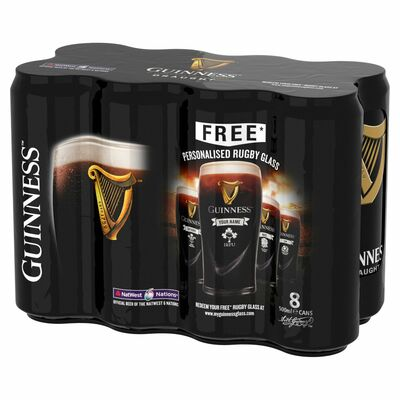 GUINNESS DRAUGHT CAN PACK 8X500ML