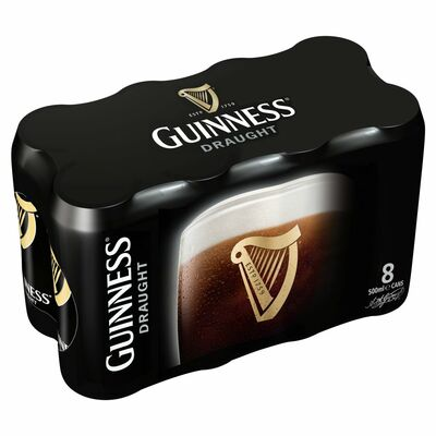 GUINNESS DRAUGHT CAN PACK 8 X 500ML