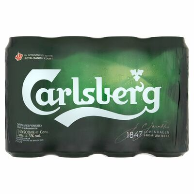 CARLSBERG CAN PACK 8 X 500ML
