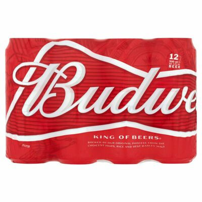 BUDWEISER CAN 12 X 500ML