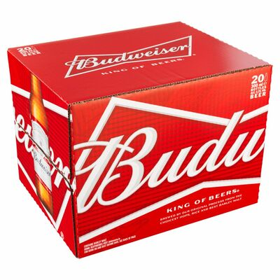 BUDWEISER BOTTLES BOX 20 X 300ML