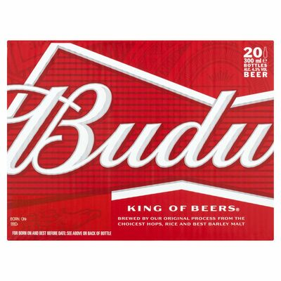BUDWEISER BOTTLE PACK 20X300ML