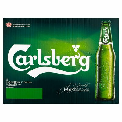 Carlsberg Bottles 20 Pack 300ml