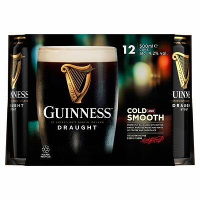 GUINNESS CAN PACK 12 X 500ML