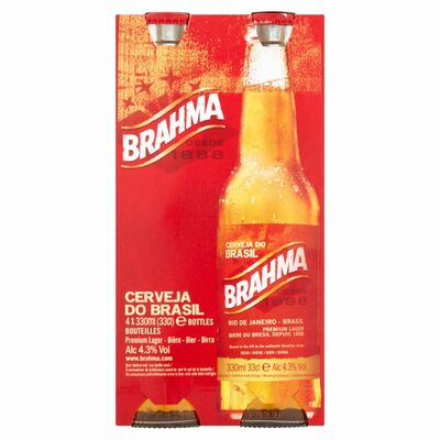 Brahma Bottle Pack 4 x 330ml