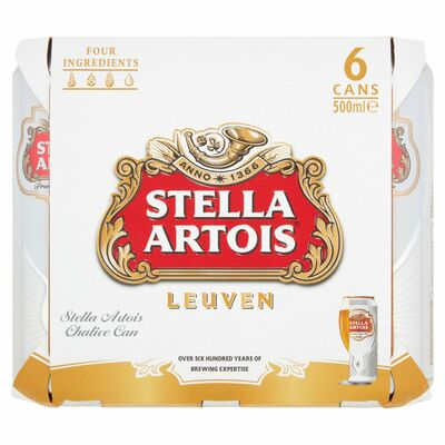 Stella Artois 6 Pack 500ml