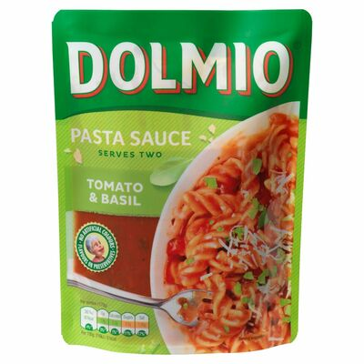 Dolmio Tomato And Basil Pouch Pasta Sauce 340g