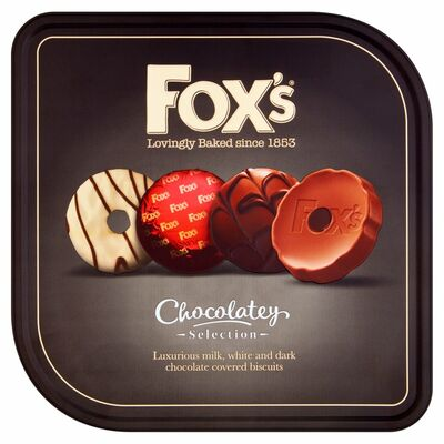 FOX'S CHOCOLATEY TIN 365G