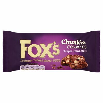 Fox's Chunkie Cookies Triple Chocolate 180g