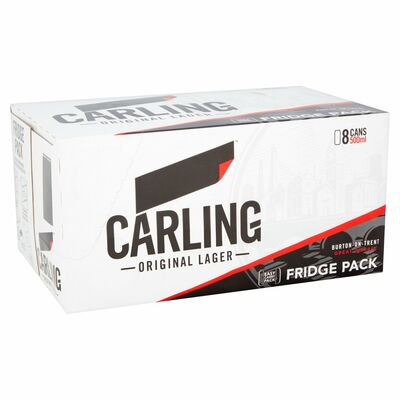 CARLING CAN PACK 8 X 500ML