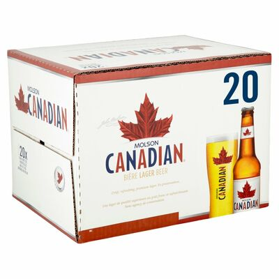 MOLSON CANADIAN  BOTTLES PACK 20 X 330ML