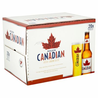 MOLSON CANADIAN BOTTLE PACK 20 X 330ML