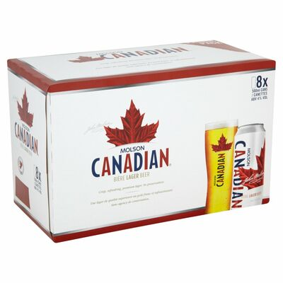 MOLSON CANADIAN CAN PACK 8X500ML