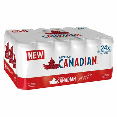 MOLSON CANADIAN CAN PACK 24X500ML